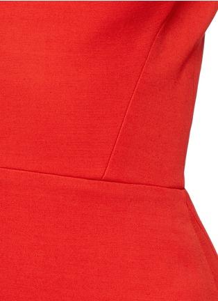 Detail View - Click To Enlarge - Victoria Beckham - Cap sleeve cutout shoulder dress