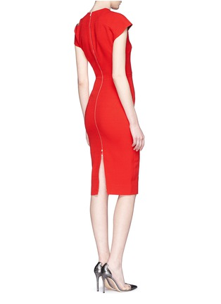 Back View - Click To Enlarge - Victoria Beckham - Cap sleeve cutout shoulder dress