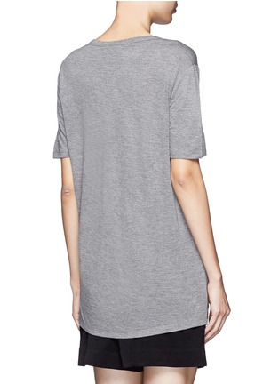 Back View - Click To Enlarge - T By Alexander Wang - Classic pocket T-shirt