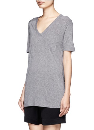Front View - Click To Enlarge - T By Alexander Wang - Classic pocket T-shirt