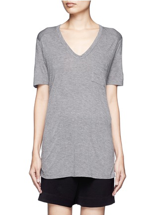 Main View - Click To Enlarge - T By Alexander Wang - Classic pocket T-shirt
