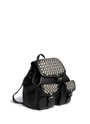 Detail View - Click To Enlarge - Rebecca Minkoff - Selena stud inlay leather backpack
