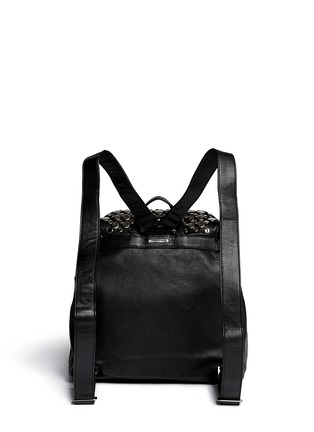 Back View - Click To Enlarge - Rebecca Minkoff - Selena stud inlay leather backpack