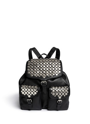 Main View - Click To Enlarge - Rebecca Minkoff - Selena stud inlay leather backpack