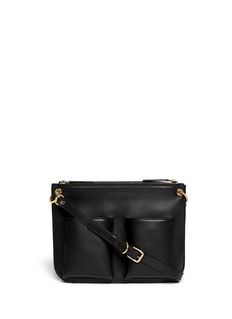 MARNI 'Bandoleer' double pouch leather shoulder bag