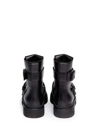 Back View - Click To Enlarge - Marni - Concealed lace-up buckle combat boots