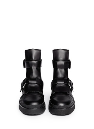Figure View - Click To Enlarge - Marni - Concealed lace-up buckle combat boots