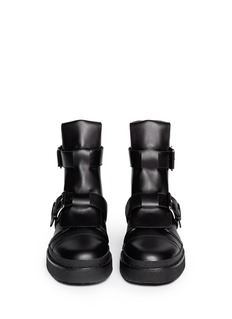 MARNI Concealed lace-up buckle combat boots