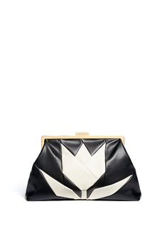 STELLA MCCARTNEY Tulip front oversized leather clutch