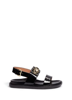 MARNICrystal strap leather sandals