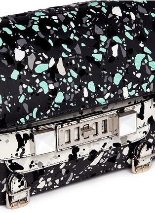 Detail View - Click To Enlarge - Proenza Schouler - 'PS11' velvet flock classic shoulder bag