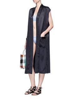 Beth RichardsWashed silk long vest