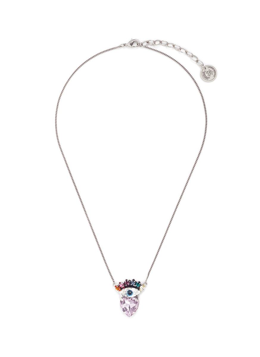 Eye and heart Swarovski crystal necklace by Anton Heunis
