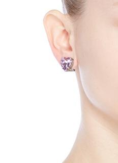 Anton HeunisVintage stone heart stud earrings