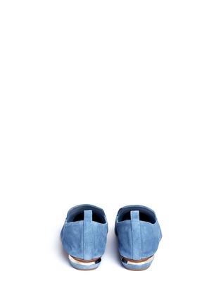 Back View - Click To Enlarge - Nicholas Kirkwood - 'Beya' metal heel suede skimmer loafers