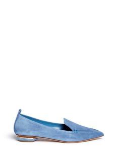 NICHOLAS KIRKWOODBeya六角形鞋跟绒面真皮乐福鞋