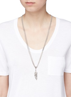 Philippe Audibert 'Tizziri' feather pendant necklace