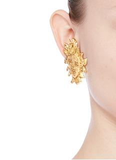 STAZIA LOREN Sun face clip earrings