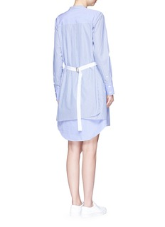 Theory 'Jodalee' belted back stripe shirt dress