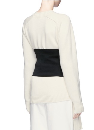 Back View - Click To Enlarge - Tibi - Rib knit wide belt