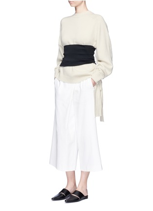 Figure View - Click To Enlarge - Tibi - Rib knit wide belt