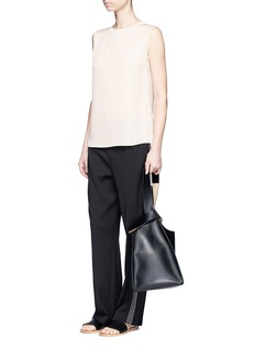 Vince Knit sash sleeveless silk top