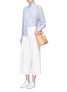 VinceStripe cotton-linen shirt