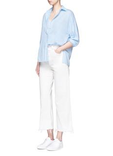 VinceInverted back pleat cotton lawn shirt