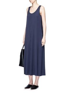 VinceStretch satin sleeveless maxi dress