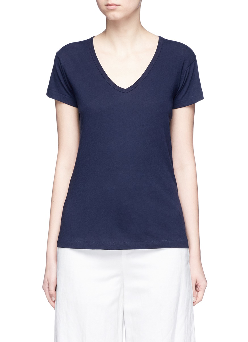 Slub pima cotton jersey T-shirt by Vince
