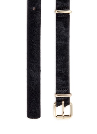Detail View - Click To Enlarge - Maison Boinet - Ponyhair belt