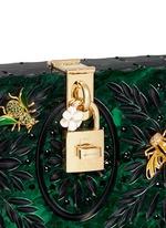 'Dolce Box' jewel embellished Plexiglas clutch