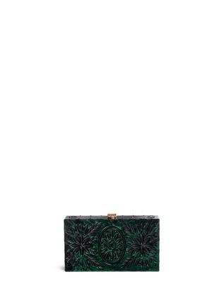 Back View - Click To Enlarge - Dolce & Gabbana - 'Dolce Box' jewel embellished Plexiglas clutch