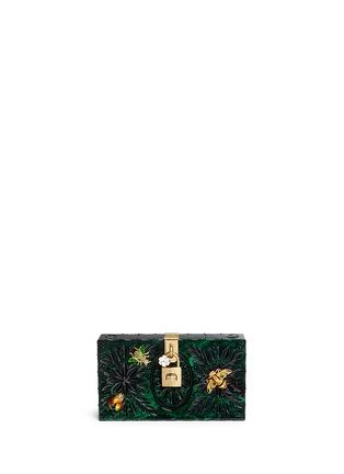 Main View - Click To Enlarge - Dolce & Gabbana - 'Dolce Box' jewel embellished Plexiglas clutch