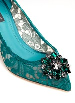 'Bellucci' jewel brooch Taormina lace pumps