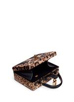 'Dolce Box' DG Family appliqué leopard print leather bag