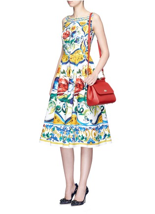 - Dolce & Gabbana - 'Miss Sicily' medium leather satchel