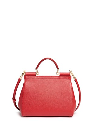 Back View - Click To Enlarge - Dolce & Gabbana - 'Miss Sicily' medium leather satchel