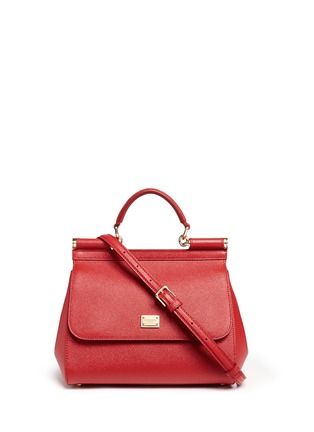 Main View - Click To Enlarge - Dolce & Gabbana - 'Miss Sicily' medium leather satchel