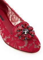 'Vally' jewel brooch Taormina lace flats