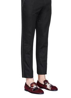 Dolce & GabbanaCowboy designers patch suede slip-ons