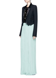Lanvin Pleated silk georgette maxi skirt