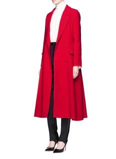 LanvinWool flannel flare coat