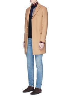 Paul SmithColourblock wool-silk turtleneck cardigan
