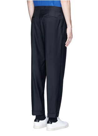 Back View - Click To Enlarge - Paul Smith - Roll cuff wool pants