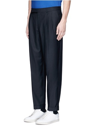 Front View - Click To Enlarge - Paul Smith - Roll cuff wool pants