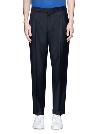 Main View - Click To Enlarge - Paul Smith - Roll cuff wool pants