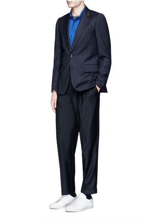Figure View - Click To Enlarge - Paul Smith - Roll cuff wool pants