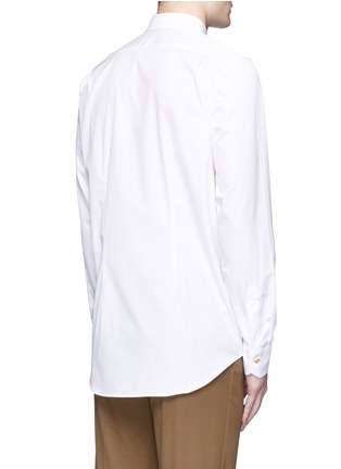 Back View - Click To Enlarge - Paul Smith - 'Soho' contrast cuff lining shirt