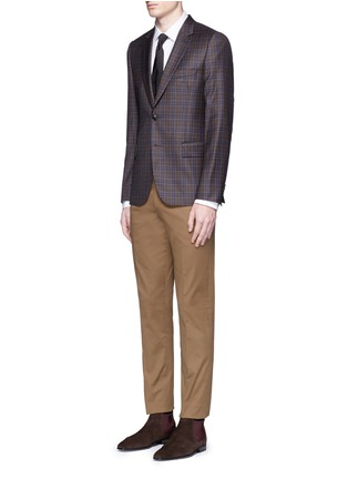 Figure View - Click To Enlarge - Paul Smith - 'Soho' contrast cuff lining shirt